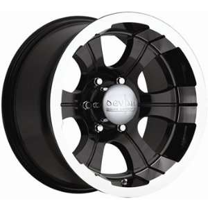 Devtno 349 15x8 Black Wheel / Rim 5x4.5 with a  28mm Offset and a 74