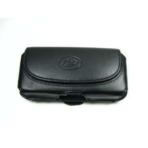 com Premium Soft Black Horizontal Leather Pouch Carry Case + Car Auto