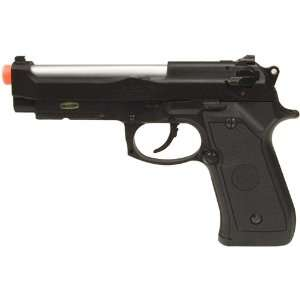 Green Gas Semi Auto Blowback Airsoft Pistol, Black