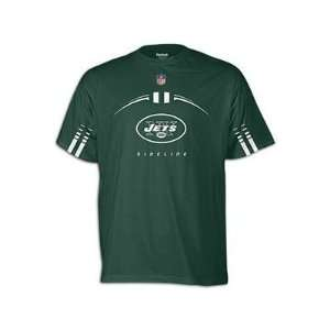 Jets 2011 Reebok Sideline Gun Show Green T shirt Sports & Outdoors