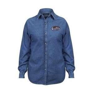 NASCAR Nationwide Series Ladies Long Sleeve Denim Shirt   Denim Extra