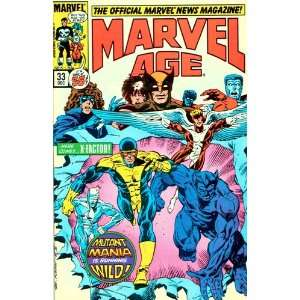 The Official Marvel News Magazine Marvel Age # 33 December