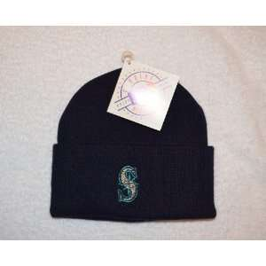 Seattle Mariners Blue Beanie Hat   MLB Cuffed Winter Knit
