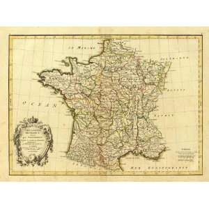 France, carte generale, 1786: Arts, Crafts & Sewing