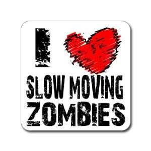 I Love Heart SLOW MOVING ZOMBIES   Window Bumper Laptop