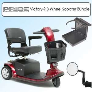 Pride Mobility Victory 9 3 Wheel Scooter S609 Red Bundle