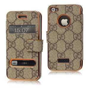 G Wallet Leather Flip Case for Iphone 4 4s   Grey Cell