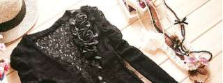 Ladies Lace Shrug Short Coat Jacket UK Size 6 8 Small 1029