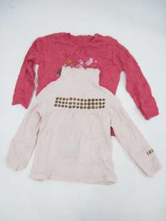 LOT 2 NWT IKKS Girls Pink Graphic Shirts Tops Size 3T