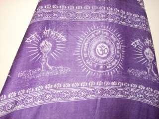 SIR ALISTAIR RAI Purple Prayer Wrap Scarf Pewter Fearless Stitching