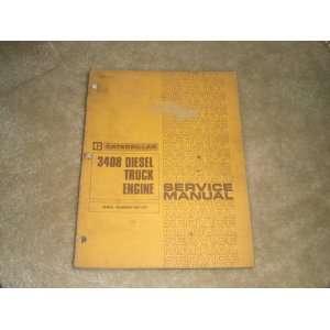 3408 Diesel Truck Engine Service Manual (Serial Numbers