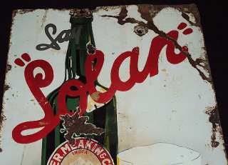 SOLAN BEER Vintage Porcelain Enamel Sign Very Rare