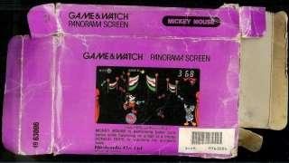 1984 MICKEY MOUSE PANORAMA NINTENDO GAME & WATCH + BOX