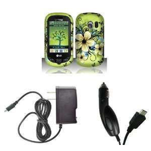 LG Extravert (Verizon) Premium Combo Pack   Green Hibiscus