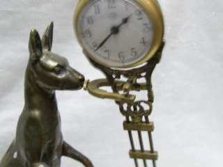 Rare attractive Copper Kangaroo Swing Machine Clock