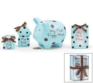 BABY BOY MY FIRST PIGGY BANK, TOOTH GIFT SET B/9711968