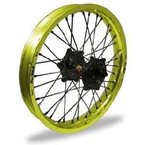 Wheel Pro Wheel 2.15x19 MX Rear Wheel   Yellow Rim/Black Hub , Color