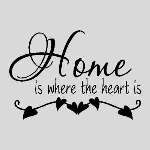 Home is where the heart isFamily Wall Quotes Sayings