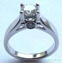 ZALES 14K WHITE GOLD DIAMOND ENGAGEMENT RING
