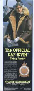 The Official RAF Irvin Flying Jacket 1991 Magazine Advert #3858