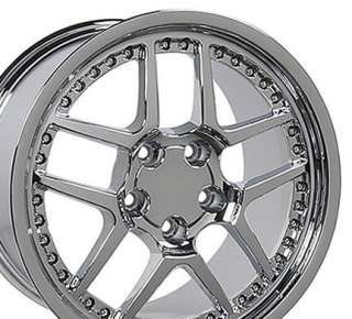 18 Rim Fits Corvette Z06 Wheel Chrome with Rivets