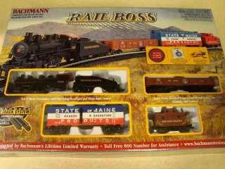 RAIL BOSS Complete Ready to Run HO Scale TRAIN SET   NEW