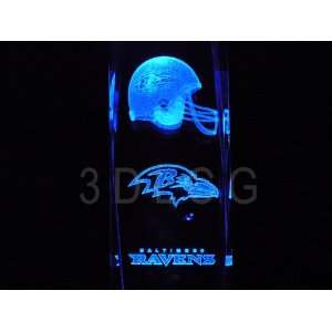 NFL Baltimore Ravens 3D Laser Etched Crystal 6 Inch Sports & Outdoors