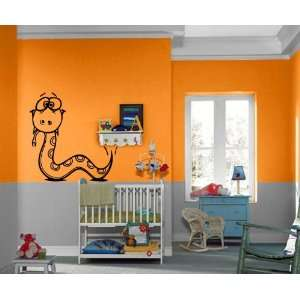 Crazy Eye Baby Snake Kids Room Nursery Decor Wall Mural