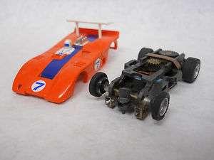 Aurora Original AFX #1752 McLaren XLR   Orange/Blue #7   HO Slot Car