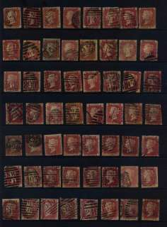GB QUEEN VICTORIA 1d Penny Reds Stamps Collection
