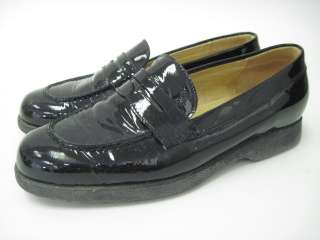 TODS Black Patent Leather Loafers Driving Shoes Sz 6.5