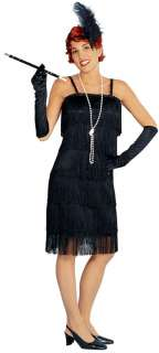1920s Charelston FLAPPER Costume Dress Women Black