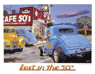 Art Cafe 50s 34 Hot Rod 40 Ford Coupe 37 Willys Sedan
