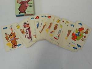 1961 YOGI BEAR RUMMY CARD GAME 36 CARDS ED U CARDS RARE