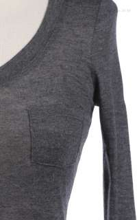 Basic Long Sleeve Round Neck Top with Chest Pocket VARIOUS COLOR and
