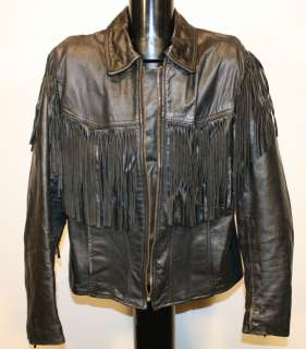 Vintage leather Motorcycle biker Jacket Chopper Bobber Cafe classic