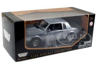 1987 BUICK REGAL SILVER 124 DIECAST MODEL CAR MOTORMAX