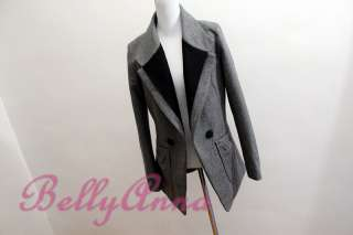 Elegant OL Korean Women High Quality Wool Blazer Jacket Suit Coat