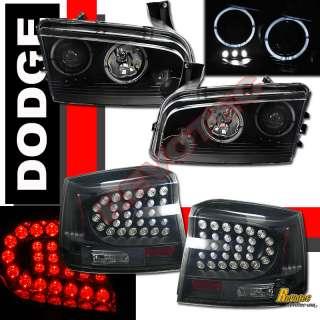 DODGE CHARGER SE SXT R/T SRT8 HALO PROJECTOR HEADLIGHTS & LED TAIL