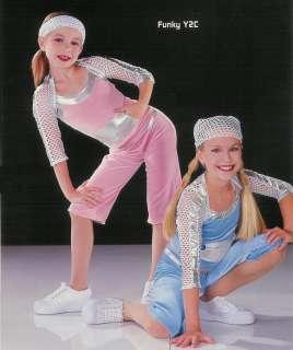 Blue FUNKY Hip Hop Jazz Dance Metallic Costume Child XS