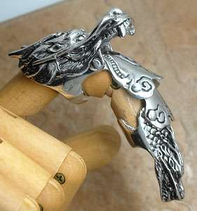 Dragon Pewter Armor Full Finger long Ring (Punk,Rock,Gothic,Biker