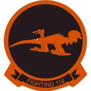 US Navy Fighting 114 Aardvarks Squadron Decal Sticker 3.8