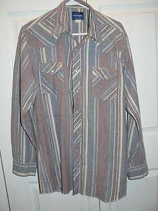 Western Cowboy Pearl Snap Button Down Long Sleeve Shirt XLT Tall