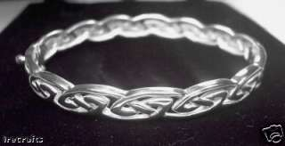 Sterling Silver Celtic Bracelet Bangle Irish Made knot 925