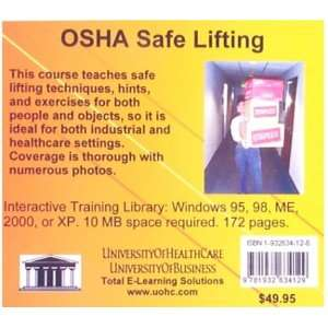 OSHA Safe Lifting (9781932634129): Daniel Farb: Books