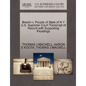 Breslin v. People of State of N Y U.S. Supreme Court Transcript of
