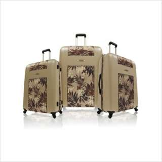 Caribbean Joe Cayman 3 Piece Hard sided Spinner Luggage Set Brown