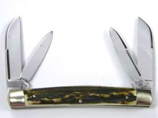 Gutmann HEN & ROOSTER  Pocket Knife  4bl CONGRESS  Stag  MINT