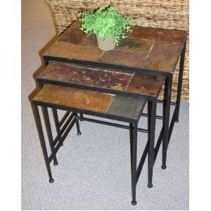 3   Pc. 4D Concepts Slate   top Nesting Tables Furniture