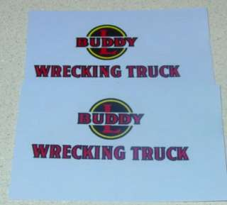 Buddy L Wrecking Truck Decal Set